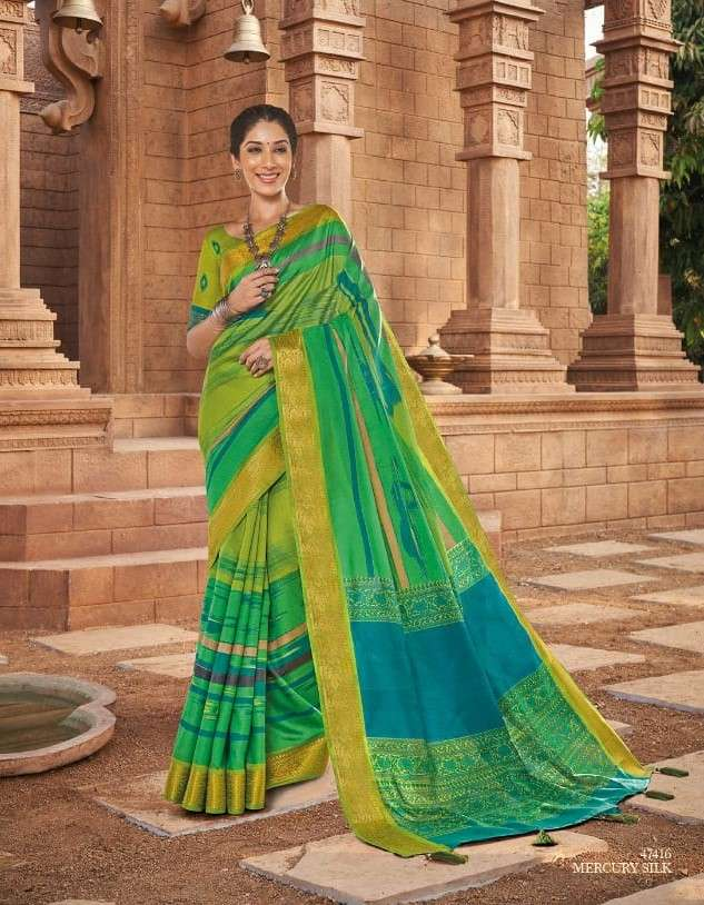 Vipul Rang Raas Exclusive Print Silk Saree Catalog Supplier in Surat
