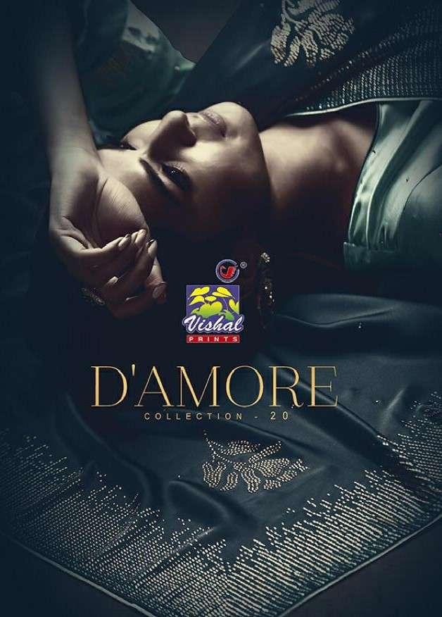 Vishal Fashion Damore Collection 20 Designer Party Wear Saree catalog Wholesale price