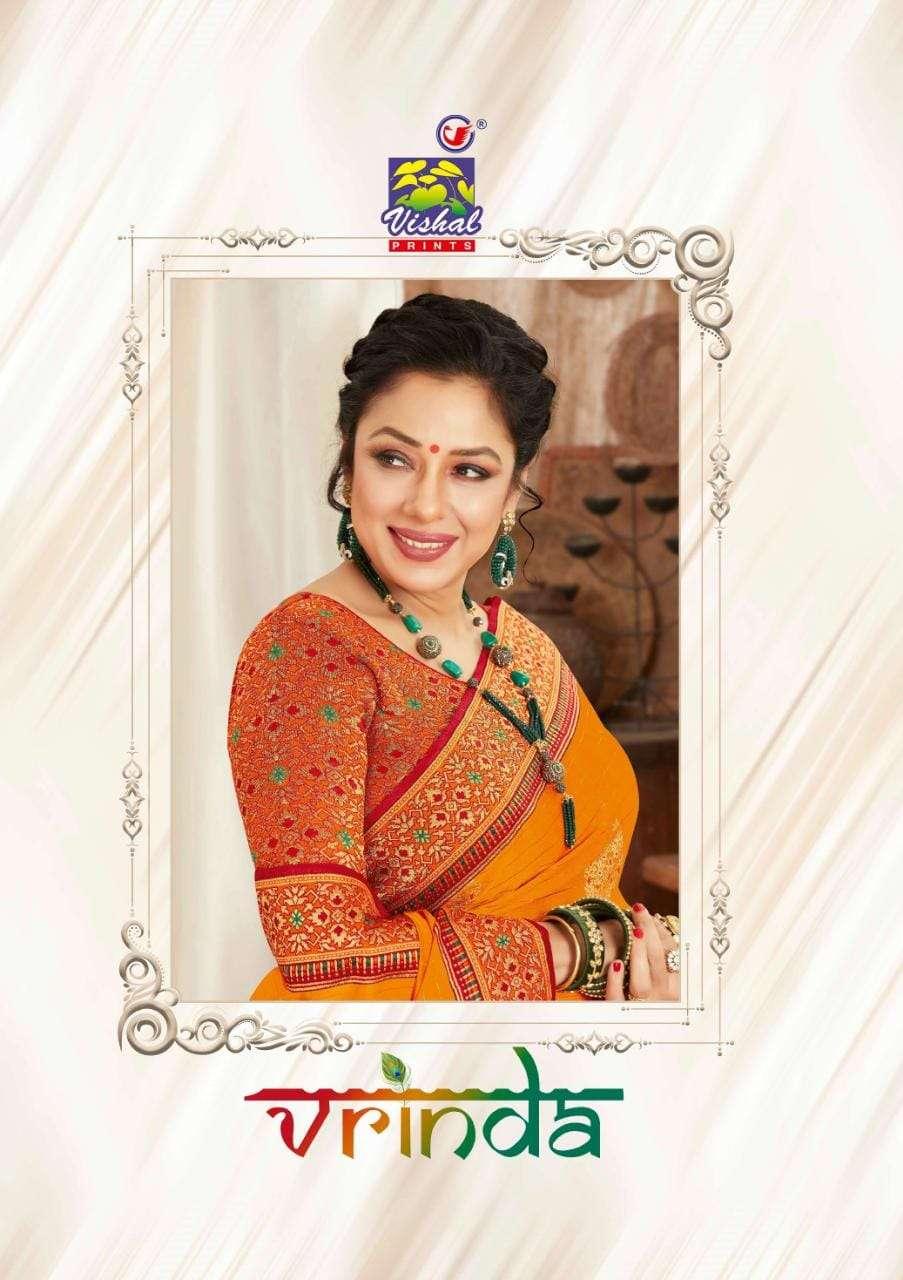 Vishal fashion Vrinda Designer Party Wear Heavy Work Saree New Designs