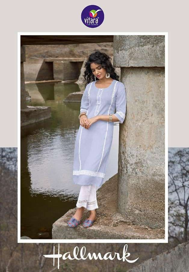 Vitara Hallmark Fancy Cotton Kurti Pent Catalog Wholesale price