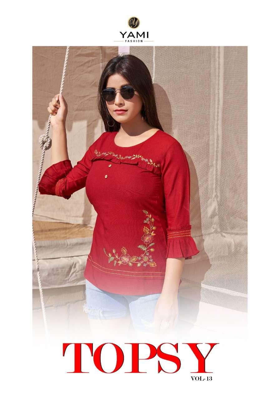 Yami Fashion Topsy Vol 13 Embroidery Short top catalog Wholesale Price