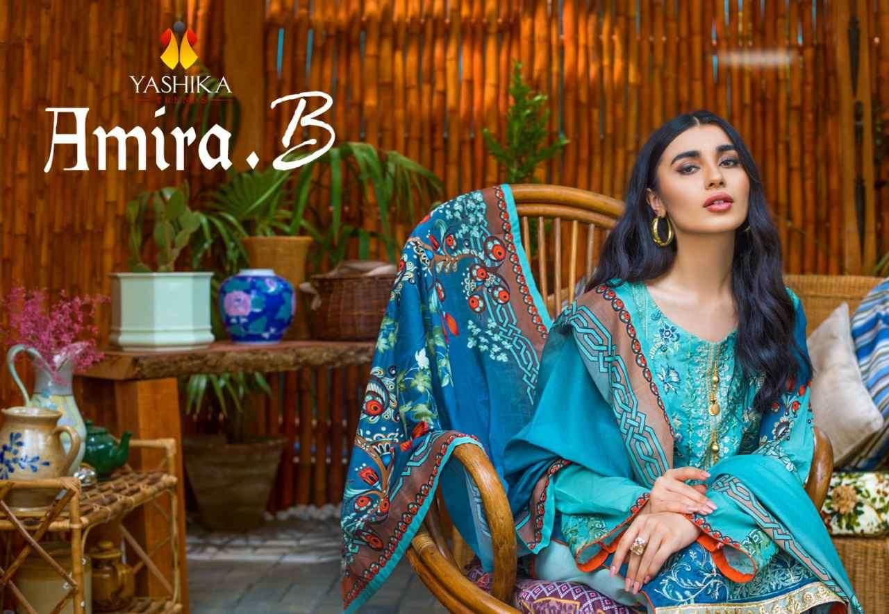 Yashika Amira B Cambric Printed Suit Online Wholesaler
