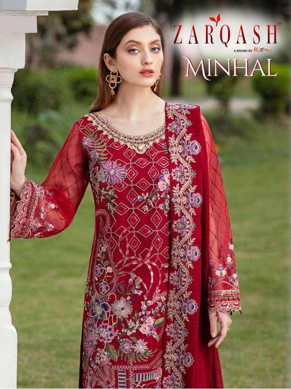 Zarqash Minhal Designer Pakistani Suit Catalog Wholesale Price