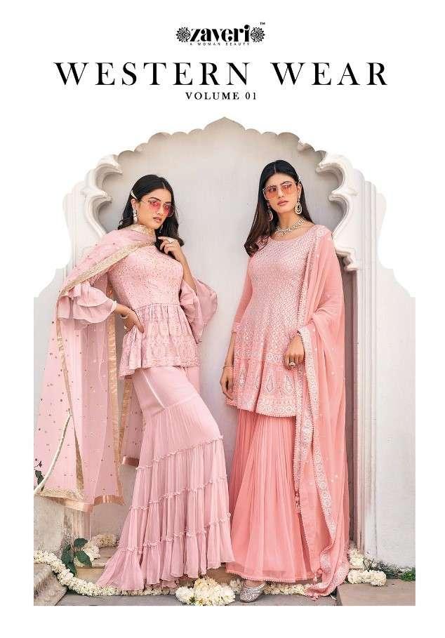Zaveri Western Wear Vol 1 Designer Readymade Salwar Dress Collection at Best Rate