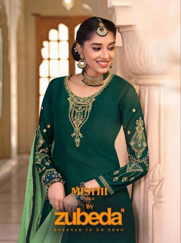 Zubeda Mishti Vol 5 Lehenga Style Salwar kameez Catalog Supplier in Surat