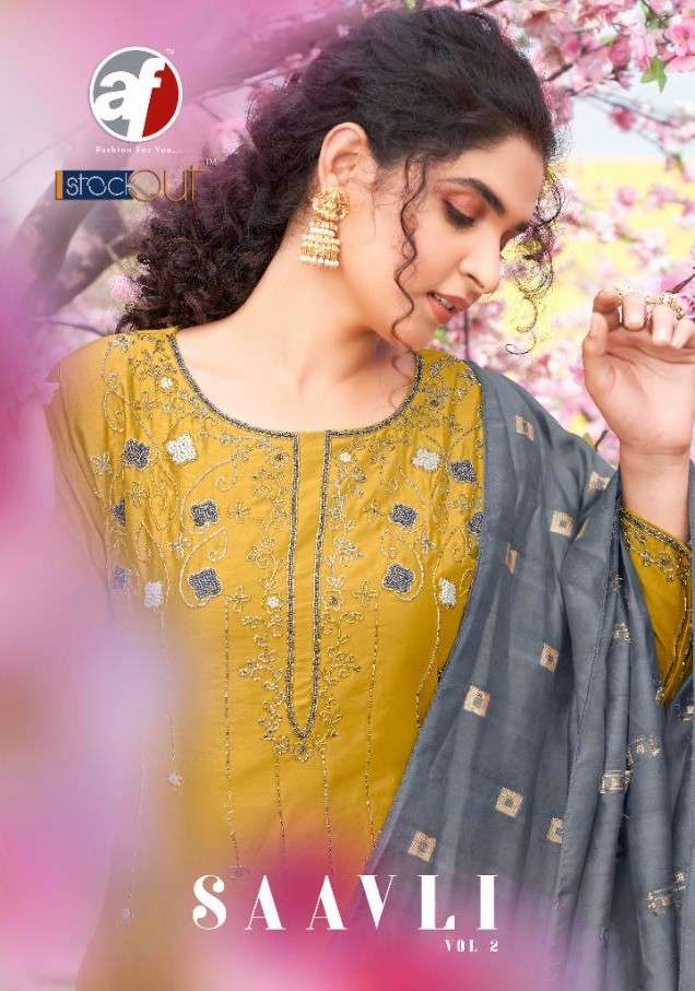 AF Stock Out Saavli Vol 2 By Anju Fabrics Exclusive Kurti Dupatta Catalog Wholesale price