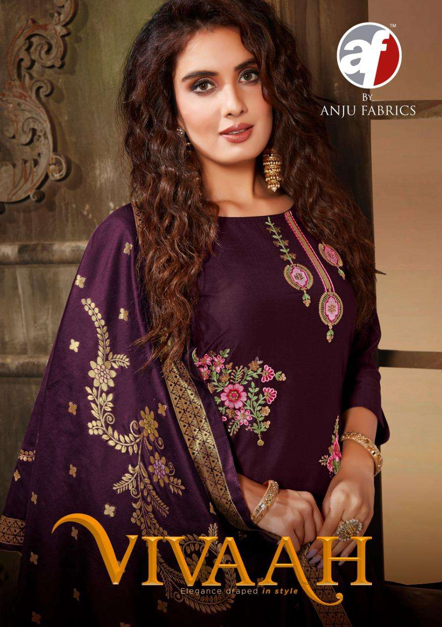 AF Stock Out Vivaah By Anju fabric Fancy Kurti Skirt Dupatta Set Collection