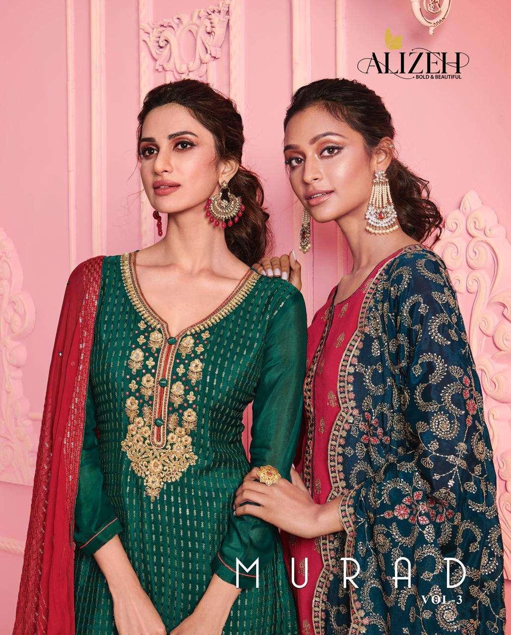 Alizeh Murad Vol 3 Fancy Straight Suit New Catalog Wholesaler