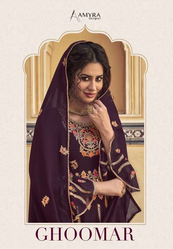 Amyra Designer Ghoomar Designer Gharara Suit Catalog Wholesale Supplier