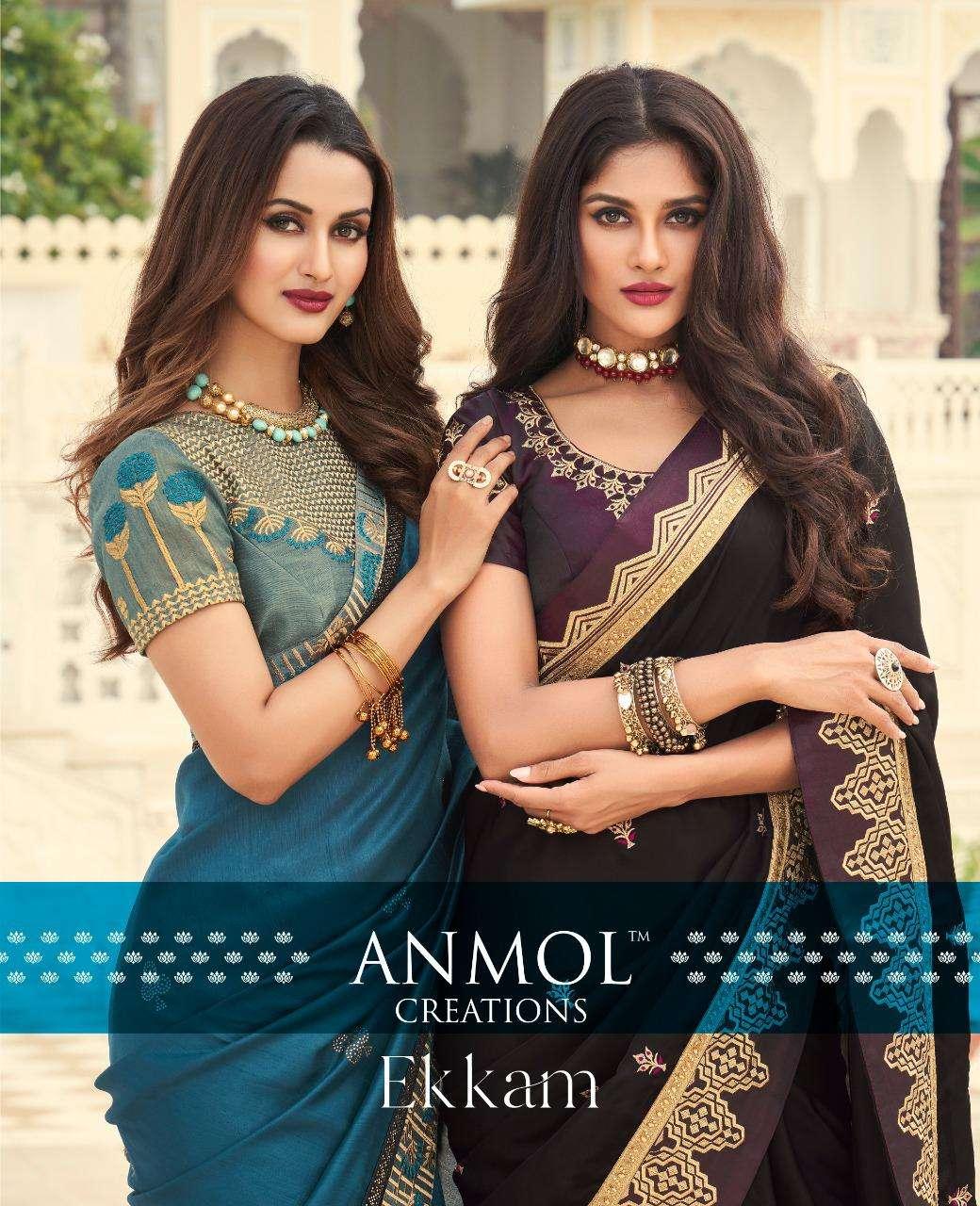 Anmol Creation Ekkam Designer Party Wear Silk Saree New Catalog Buy Online