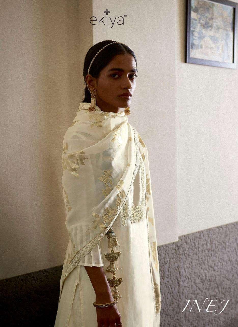Ekiya Inej By Ganga Fashion Designer Habutai Silk Salwar Suit Catalog Supplier