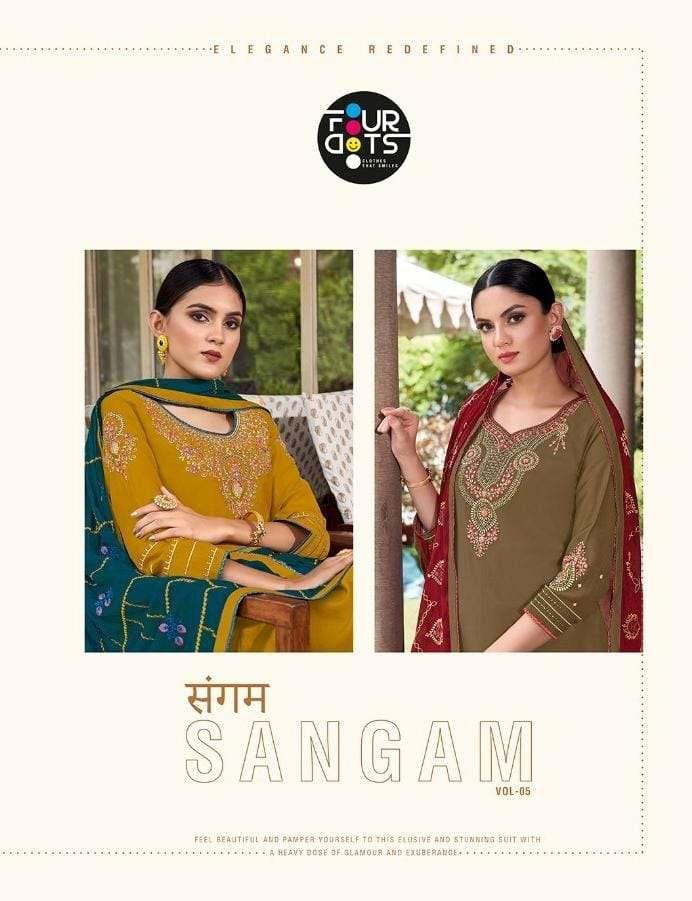 Fourdots Sangam Vol 5 Exclusive Stylish Salwar kameez catalog Wholesale Dealer