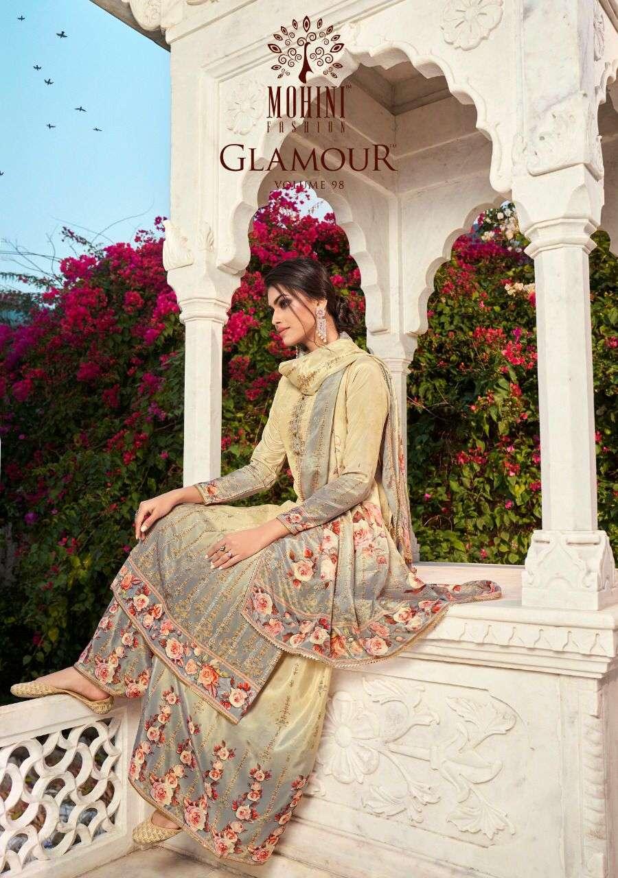 Mohini Glamour Vol 98 Digital Print Crepe Suit Catalog Wholesale Supplier