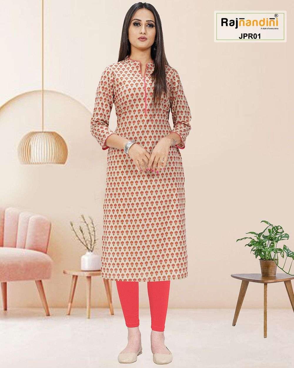 Rajnandini NC Fancy Jaipuri Print Cotton Kurti Non Catalog Collection