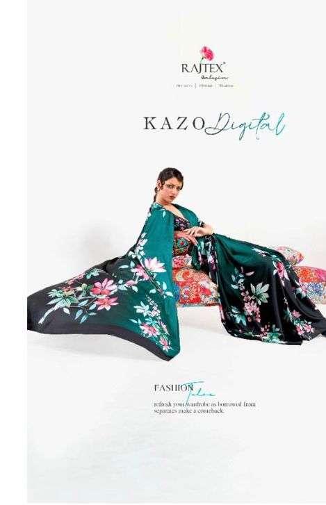 Rajtex Kazo Digital Japan Satin Crepe Saree Catalog Wholesale Price