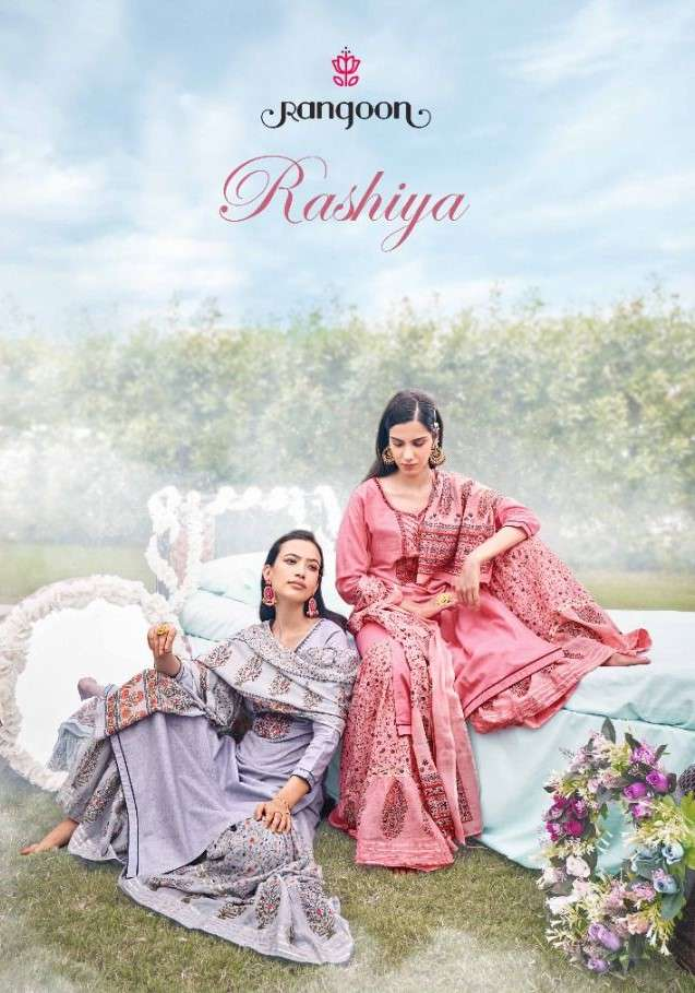Rangoon Rashiya Cotton Kurti Sharara Dupatta Sets Catalog buy Online