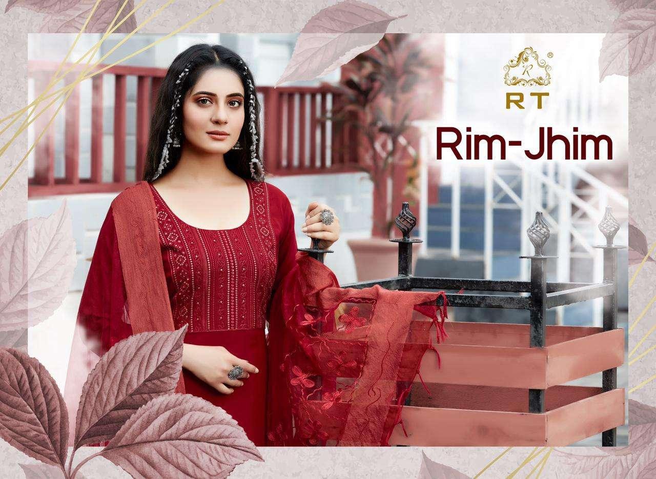Rijiya Trends Rim Jhim Kurti Dupatta Sets Catalogs in Wholesale Price