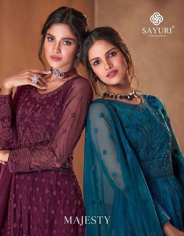 Sayuri Majesty By Aashirwad Designer Work Anarkali Suit Catalog Supplier in Surat