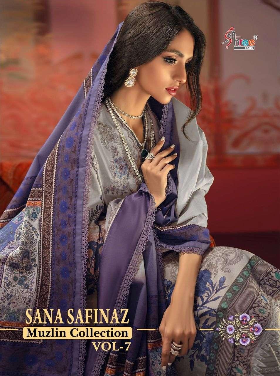 Shree Fabs Sana Safinaz Muzlin Collection Vol 7 Stylish Pakistani Suit Catalog Wholesale