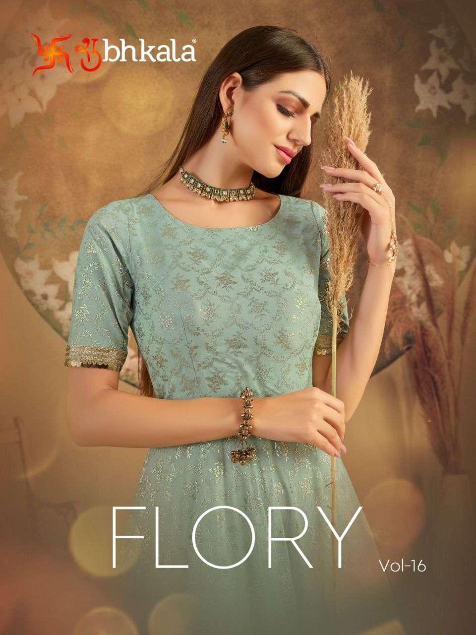 Shubhkala Flory Vol 16 Designer Anarkali Dress New catalog Supplier