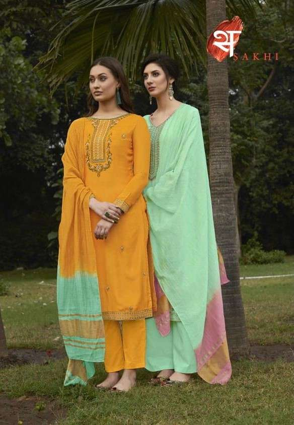 Swagat Sakhi 1101 to 1108 Series Muslin Salwar Suit Catalog Wholesale Dealer