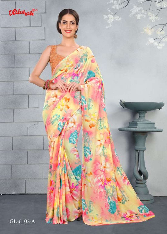 Vaishali Fashtion Crepe All Over Print Saree Catalog Wholesale Price