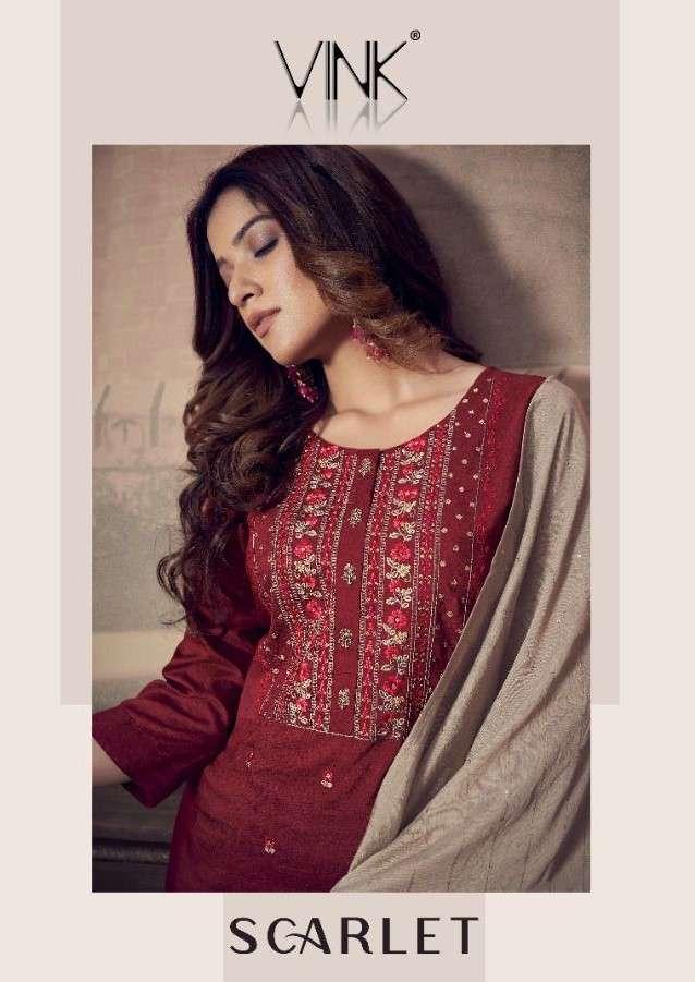 Vink Scarlet By Vista Lifestyle Designer Kurti Sharara Dupatta Set catalog Supplier