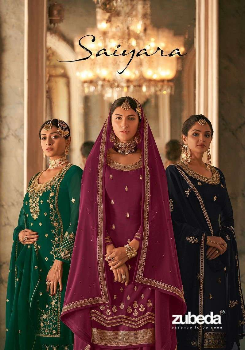 Zubeda Saiyara Designer party Wear Sharara Dress latest Catalog Wholesaler