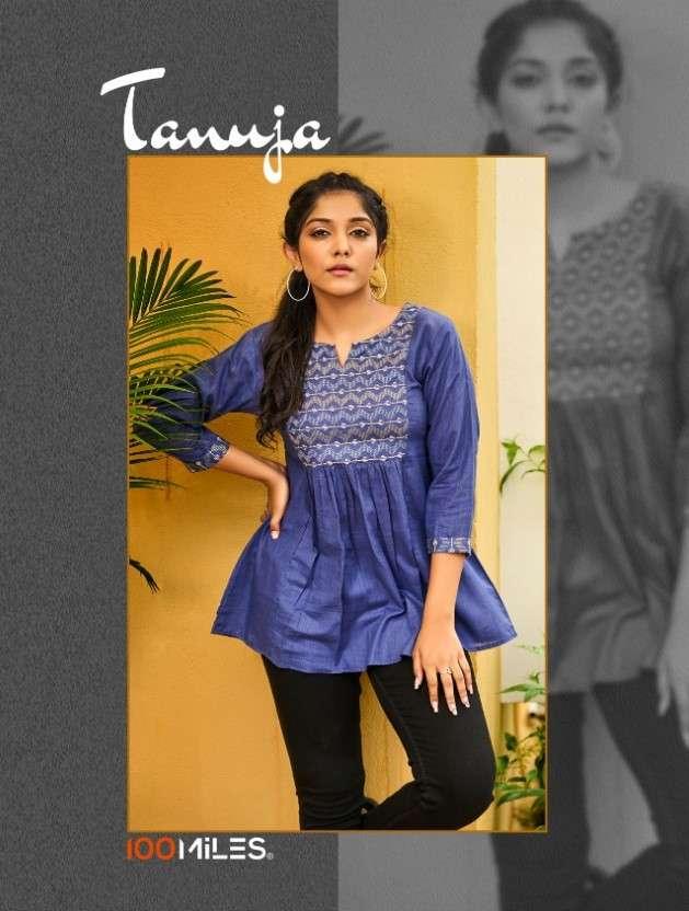 100 Miles Tanuja Fancy Cotton Short tops Catalog Wholesaler