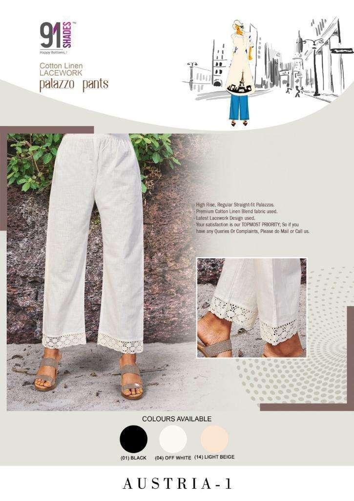 91Shades Austria Vol 1 Stylish plazzo Pants Sets Collection