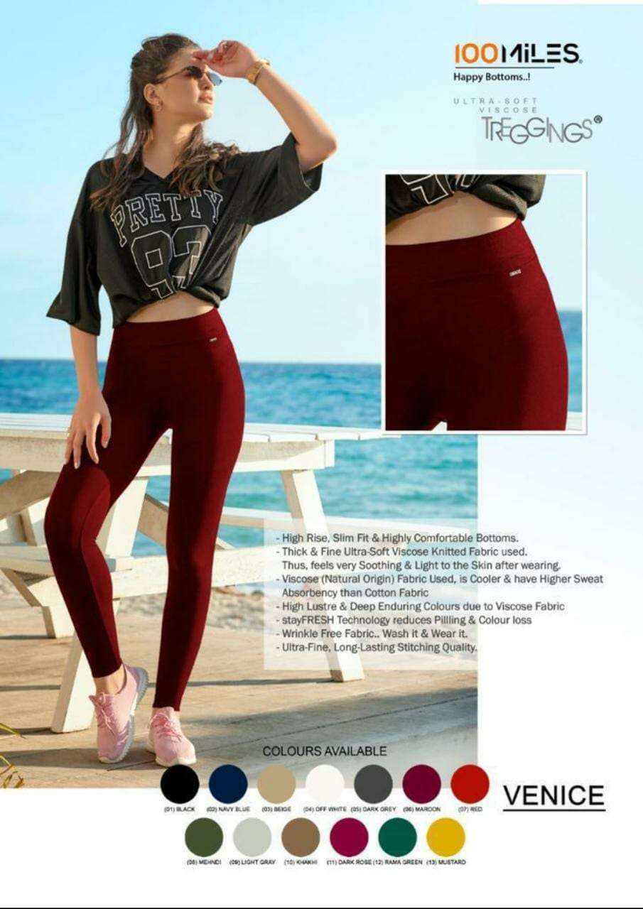 91Shades Venice Bottom Wear Treggings Latest Catalog at Best Rate