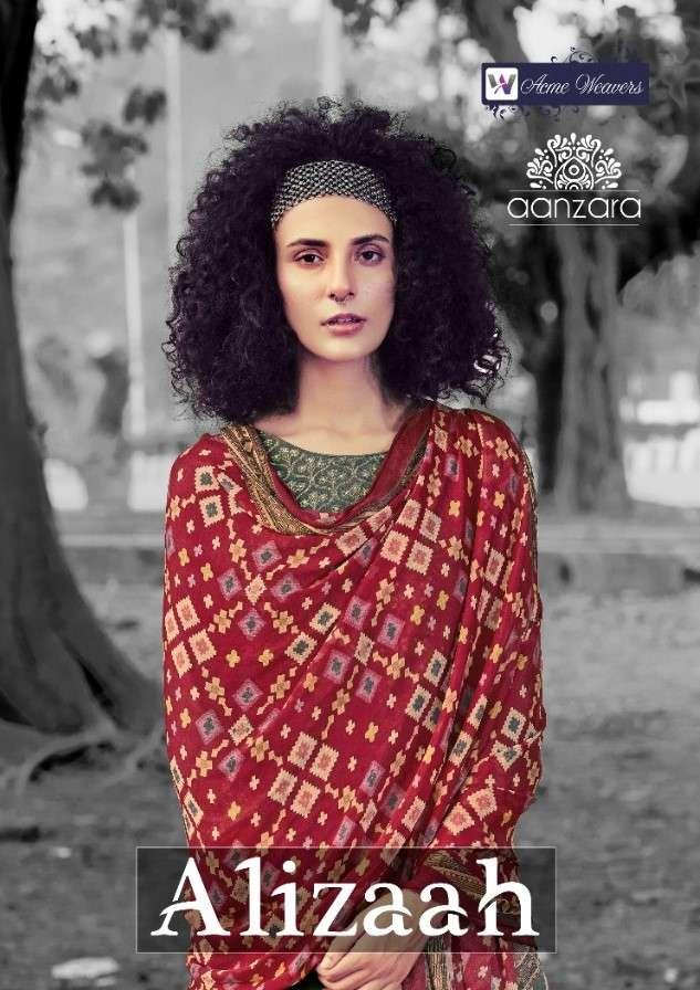 Acme Weaver Aanzara Alizaah Exclusive jacquard Silk Salwar Suit Catalog Wholesale price
