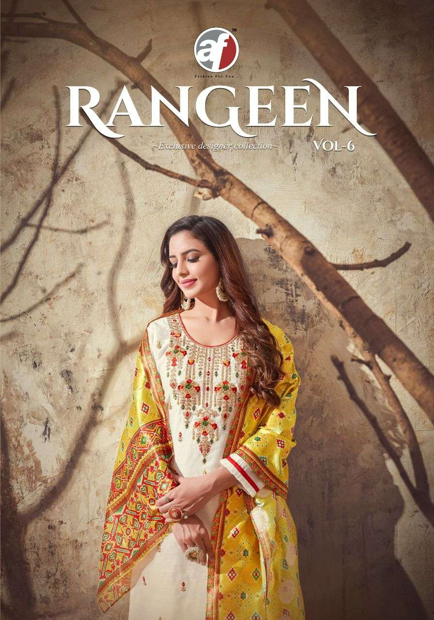 AF Stock Out Rangeen Vol 6 By Anju fabrics Designer Kurti With Dupatta Collection