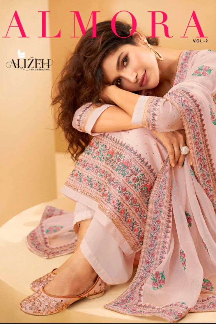 Alizeh Almora Vol 2 Exclusive Straight Suit New Collection at Best Rate
