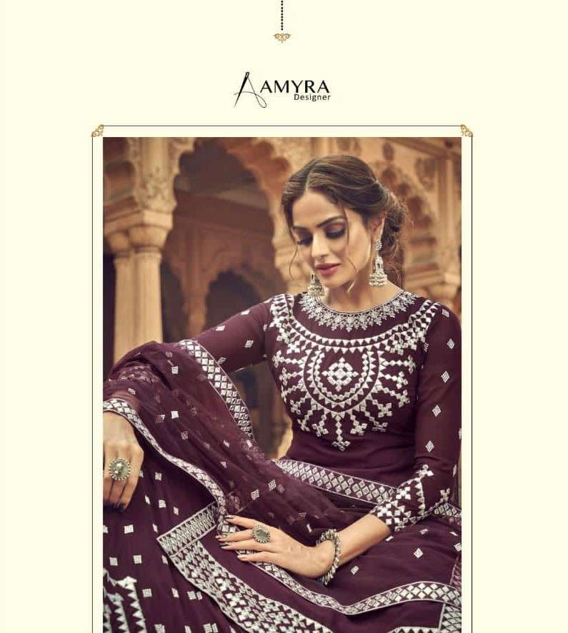 Amyra Designer kalakari Exclusive Work Lehenga Style Dress Collection 2021