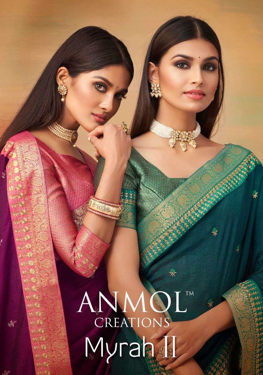 Anmol Creation Myrah Vol 2 Exclusive Designer Saree Catalog Wholesale Price