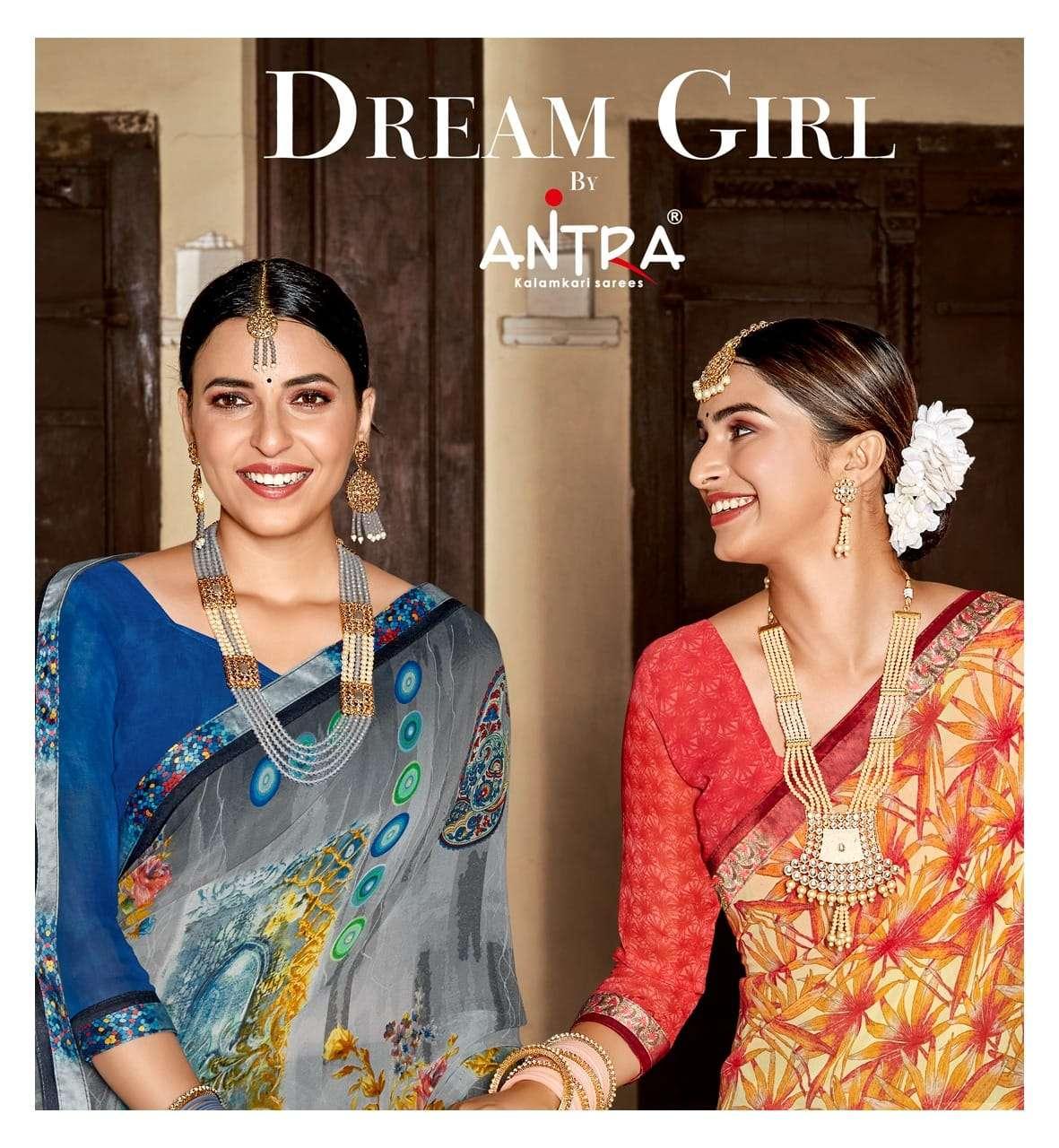 Antra Dream Girl Weightless Printed Saree Catalog Wholesale Price