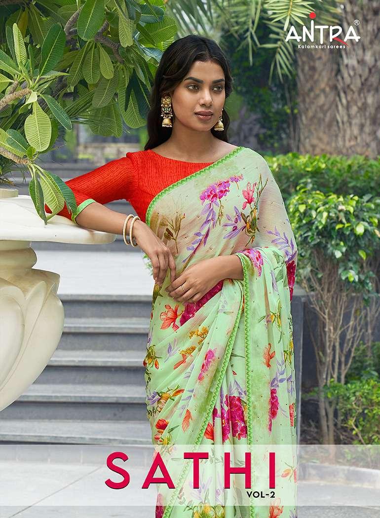 Antra Sathi Vol 2 Printed Chiffon Saree Catalog Wholesale price In Surat