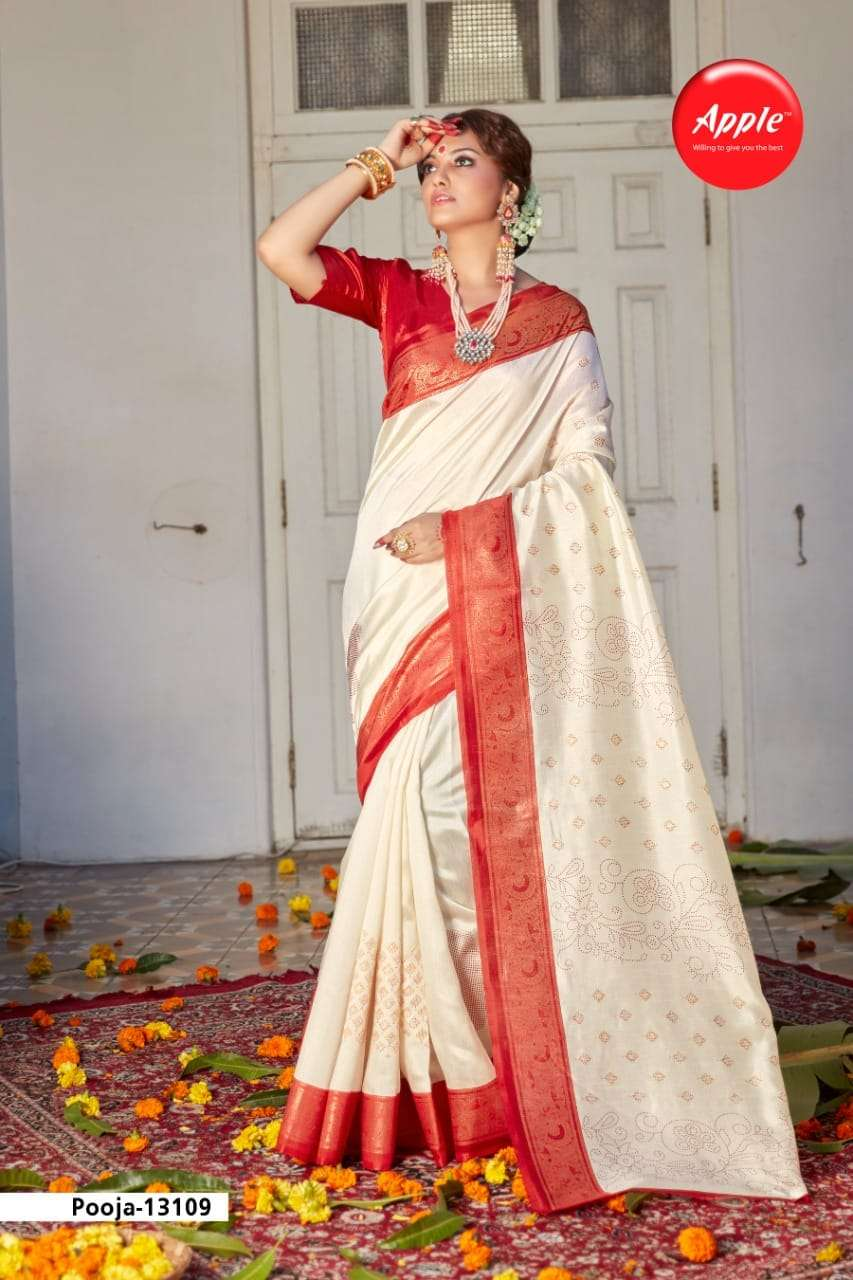 Apple Pooja Vol 13 Patola Silk Saree Catalog Wholesale Price
