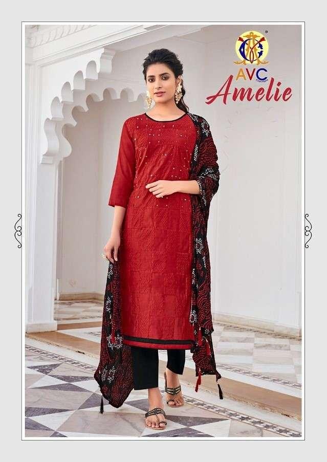 AVC Amelie Fancy casual Salwar kameez Catalog Wholesale Price