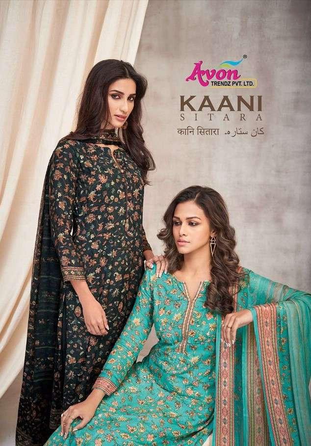 Avon Trends Kaani Sitara Muslin Silk Salwar Kameez Wholesaler
