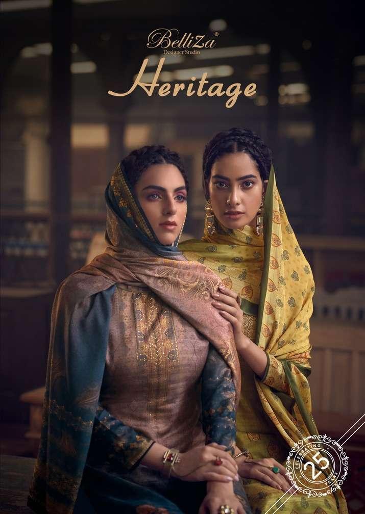 Belliza Heritage Exclusive Silk Salwar Kameez catalog Wholesale Dealer