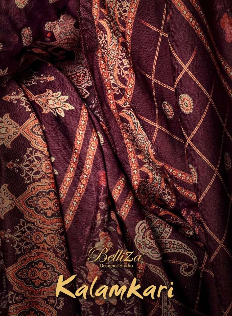 Belliza Kalamkari Pure Pashmina Digital Print Salwar Suit Wholesaler