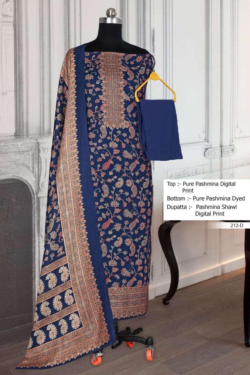 Bipson 212 Colors Fancy Pashmina Salwar Suit Catalog Supplier in Surat