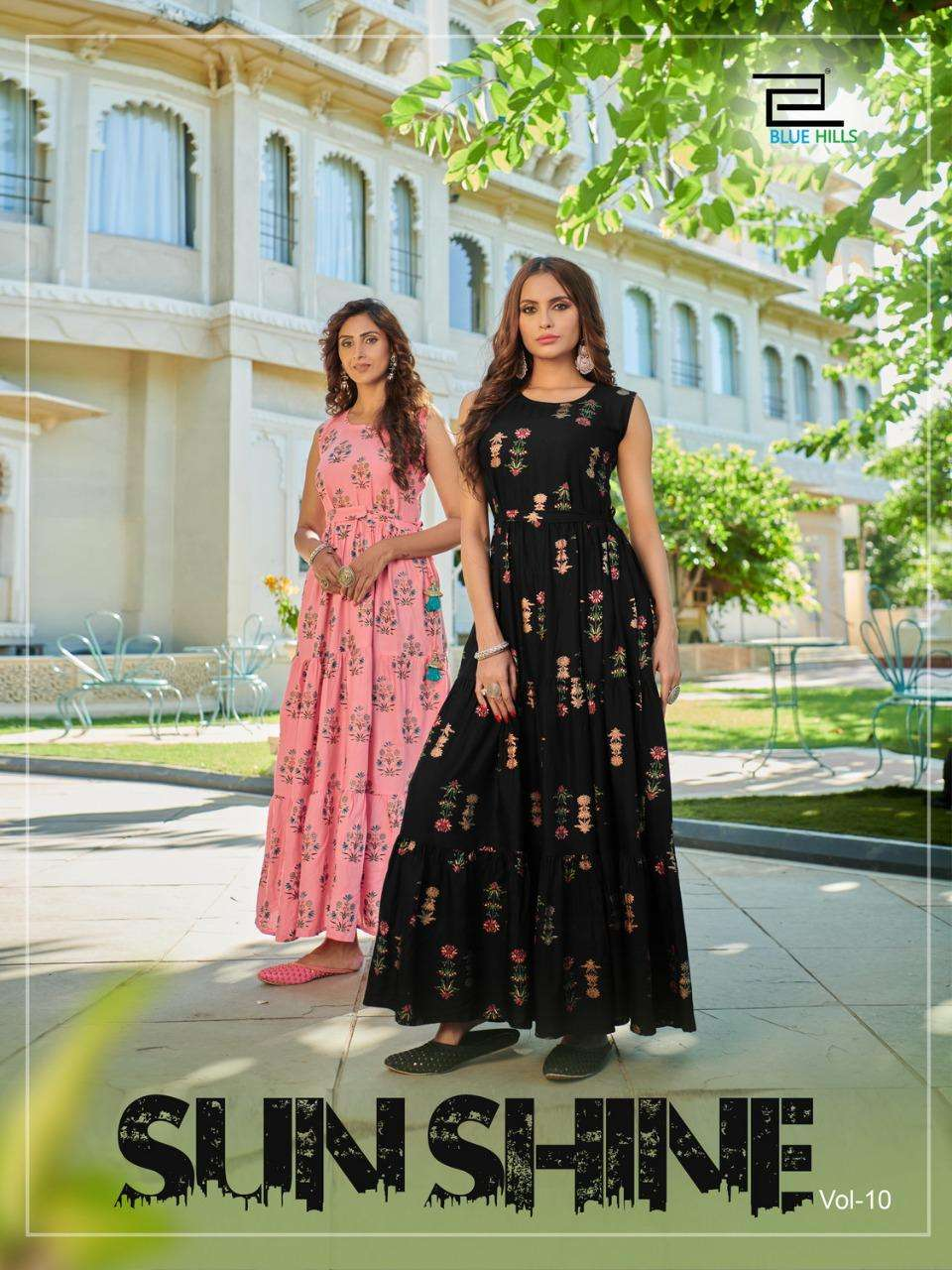 Blue Hills Sunshine Vol 10 By VF India Long Kurti Gown New Collection in Wholesale