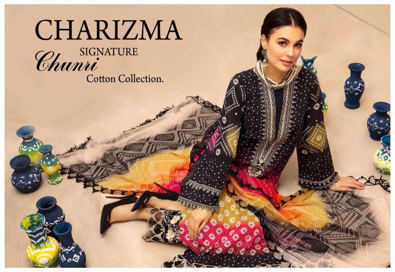 Charizma Signature Chunri Cotton Collection Printed Wholesale Suit