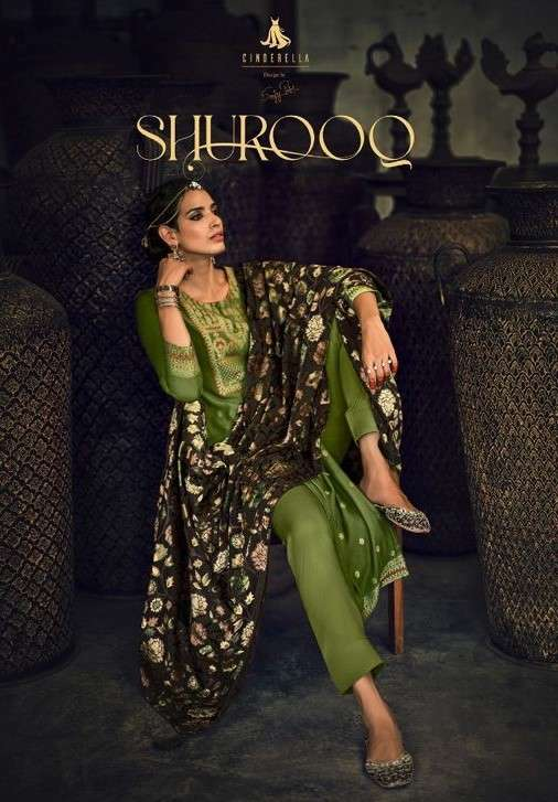 Cindrella Shuroo Exclusive Velvet Dupatta pashmina Winter Wear Collection at Best Rate