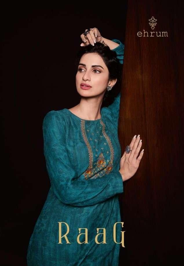 Ehrum Raag By varsha Designer Pashmina Salwar Kameez catalog Wholesaler