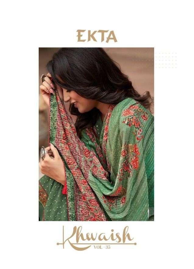Ekta Fashion Khwaish vol 35 Georgette Partywear Suit Dealer