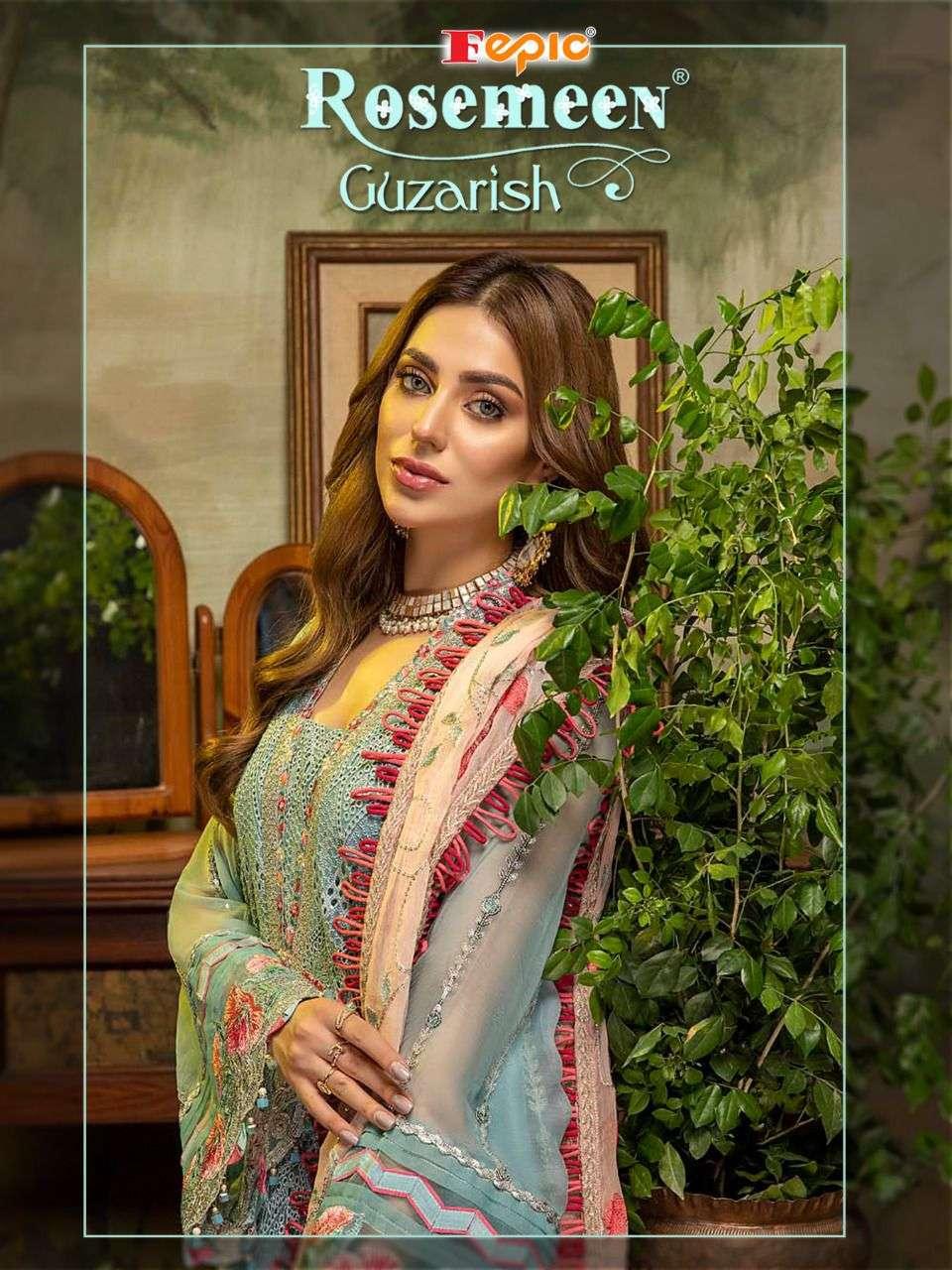 Fepic Rosemeen Guzarish Designer Pakistani Suit Catalog Wholesaler